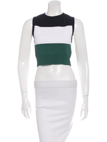 A.L.C. Colorblock Cropped Top None