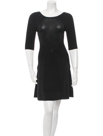 A.L.C. Textured Knit Cut Out Dress None