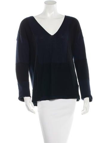 A.L.C. V-Neck Colorblock Sweater None