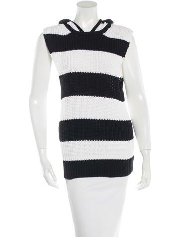 A.L.C. Hooded Striped Sweater None