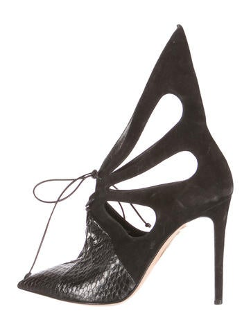Alejandro Ingelmo Pointed-Toe Cut-Out Booties