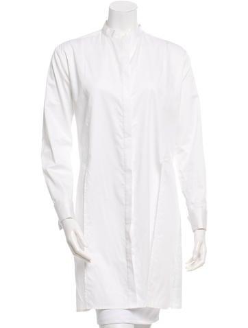 Adam Selman Long Sleeve Button-Up Dress