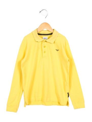 Armani Junior Boys' Long Sleeve Polo Shirt