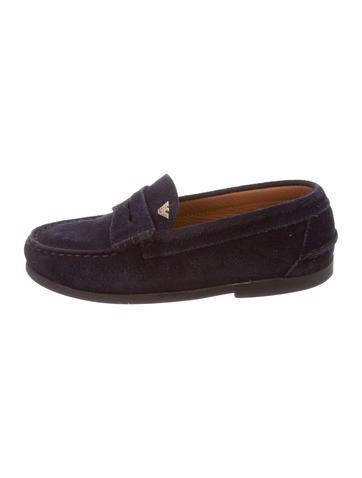 Armani Junior Boys' Suede Round-Toe Loafers None