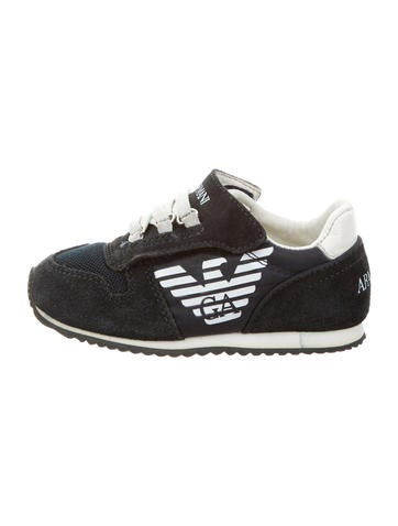 Armani Junior Boys' Suede Logo-Embellished Sneakers None