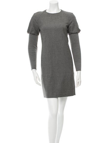 Akris Punto Wool Rib Knit-Contrast Dress None
