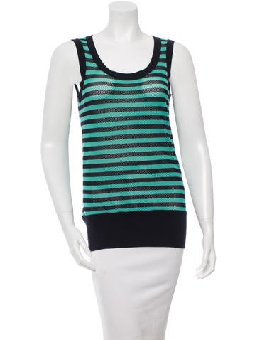 Akris Punto Striped Knit Top None