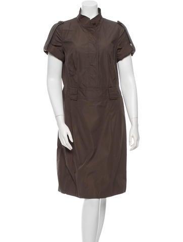 Akris Punto Three-Quarter Sleeve Midi Dress None