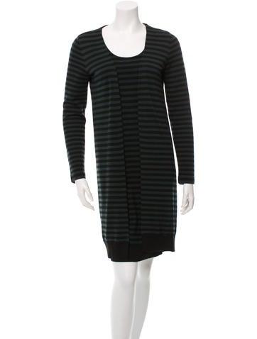 Akris Punto Striped Wool Sweater Dress None