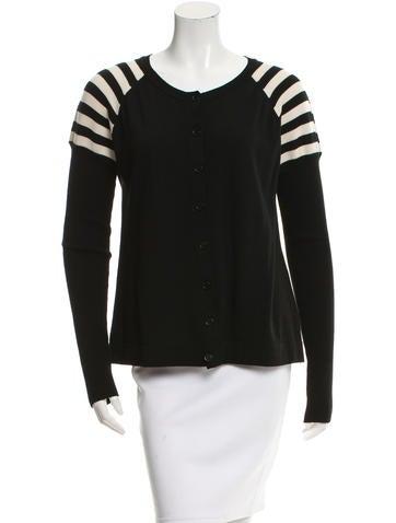 Akris Punto Wool Stripe-Accented Cardigan None