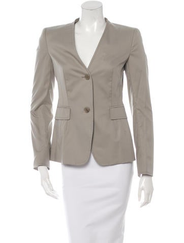 Akris Punto Collarless Lightweight Blazer None