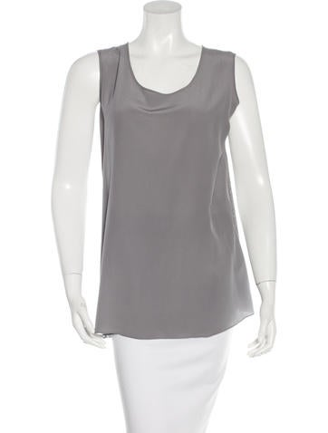 Akris Punto Wool & Silk-Blend Sleeveless Top None
