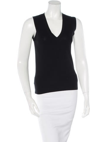 Akris Punto Sleeveless Rib Knit Top None