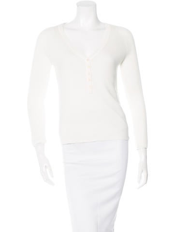 Akris Punto Knit V-Neck Top None