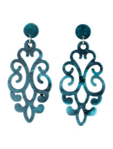 Angélique de Paris Damasque Drop Earrings