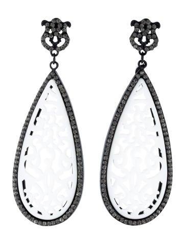 Angélique de Paris Lacy Crystal Earrings