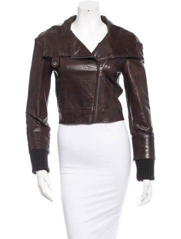 Alice + Olivia Leather Jacket w/ Tags