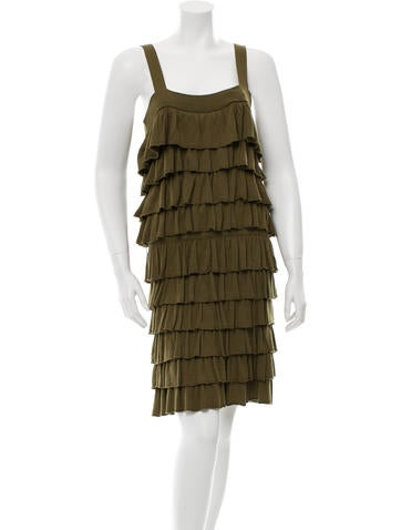 Alice + Olivia Ruffle Tiered Dress