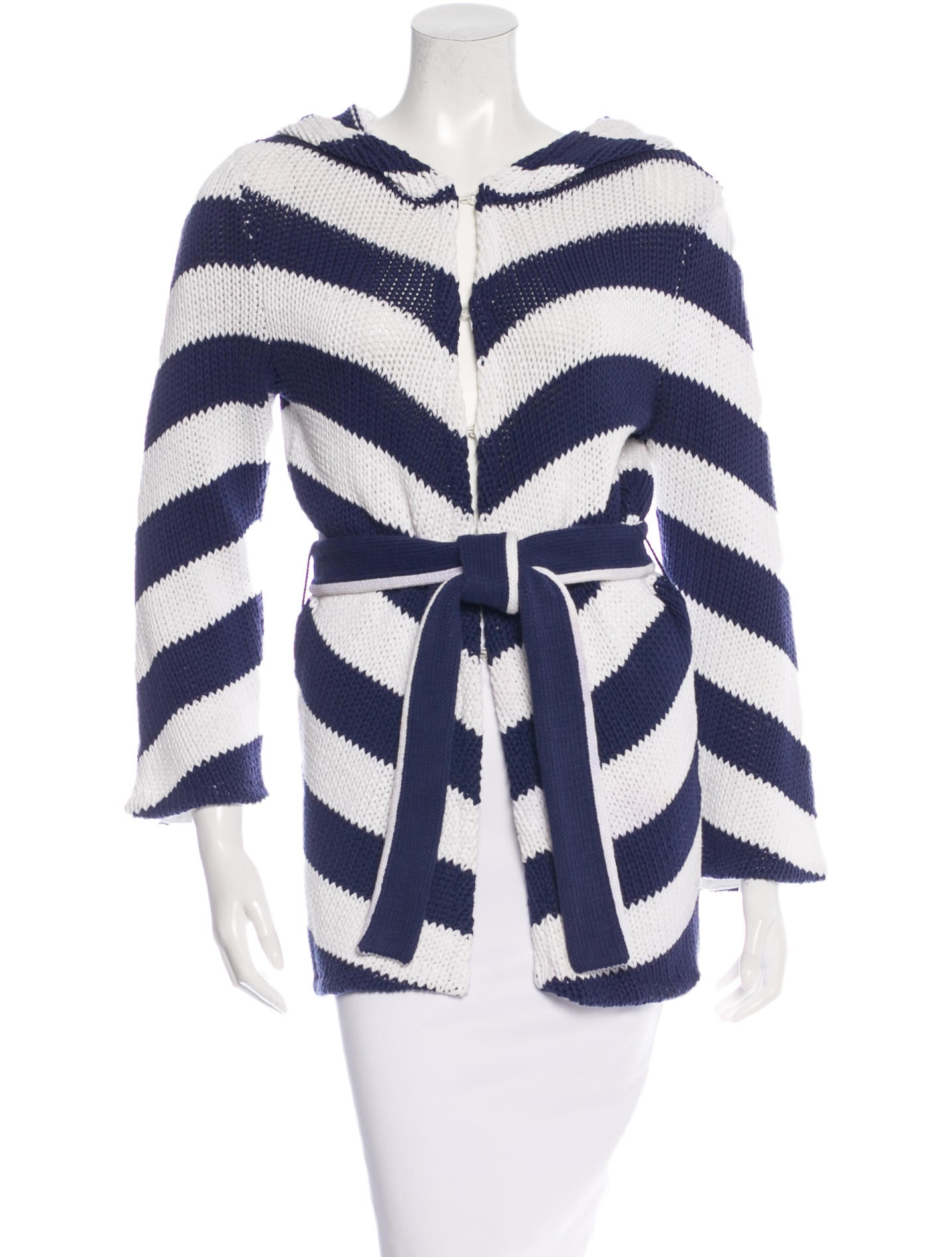 Knitting Pattern Striped Cardigan : Alice + Olivia Striped Knit Cardigan - Clothing - WAO40270 ...