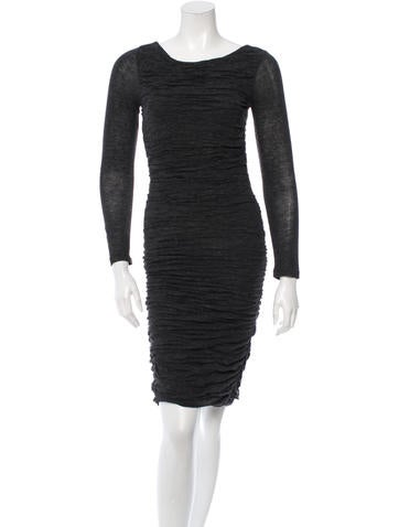 Alice + Olivia Ruched Knee-Length Dress None