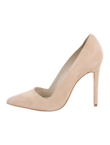 Alice + Olivia Suede Pointed-Toe Pumps None
