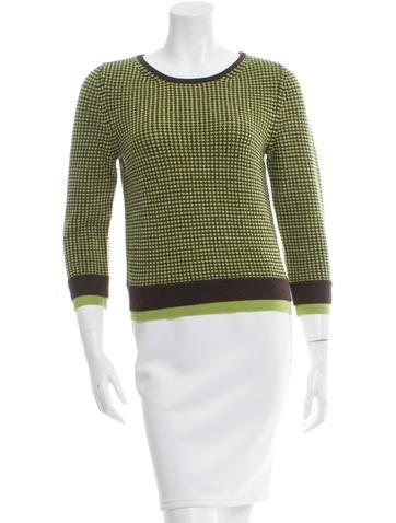 Alice + Olivia Two-Tone Wool Sweater None