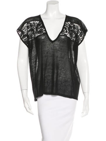 Alice + Olivia Knit Embroidered Top w/ Tags None