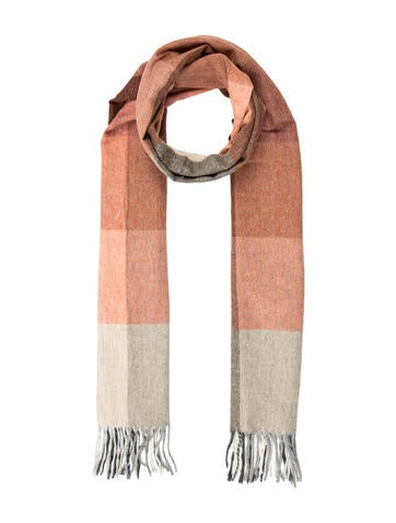 ARI Wool-Blend Checkered Scarf w/ Tags