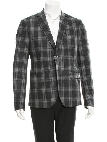 ARI Plaid Wool Blazer w/ Tags