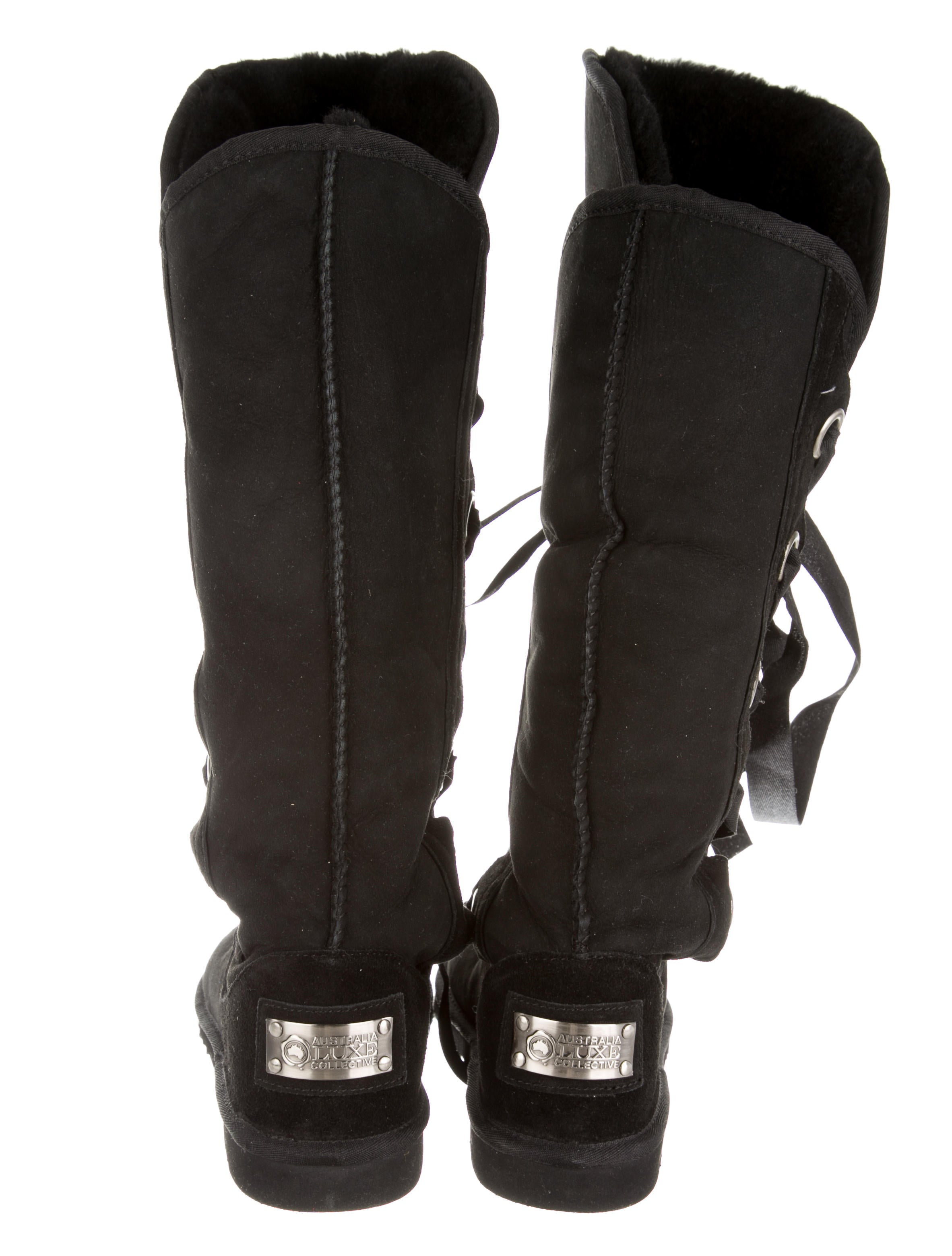 australia luxe collective lace up knee high boots shoes
