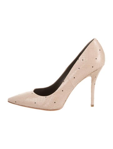 B Brian Atwood Snakeskin Cassandra Pumps None
