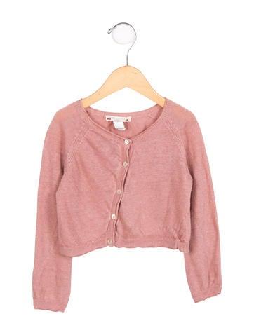 Bonpoint Girls' Linen Button-Up Cardigan None
