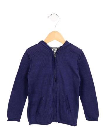 Bonpoint Girls' Knit Zip-Up Sweater None