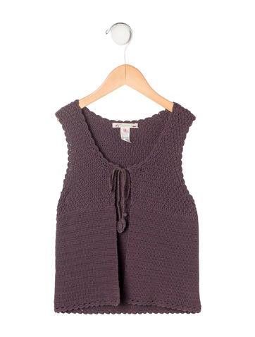Bonpoint Girls' Wide-Knit Vest None