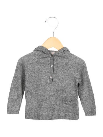 Bonpoint Girls' Hooded Knit Sweater None