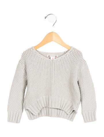 Bonpoint Girls' Knit Long Sleeve Sweater None