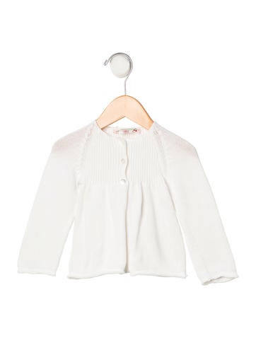 Bonpoint Girls' Rib Knit Long Sleeve Cardigan None