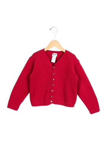Bonpoint Girls' Knit Button-Up Cardigan None