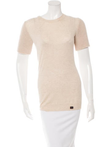 Burberry London Knit Crew Neck Top None