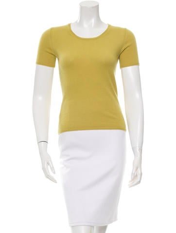 Burberry London Short Sleeve Cashmere Top None