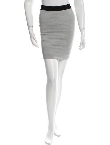 Cut25 by Yigal Azrouël Metallic Bodycon Mini Skirt w/ Tags