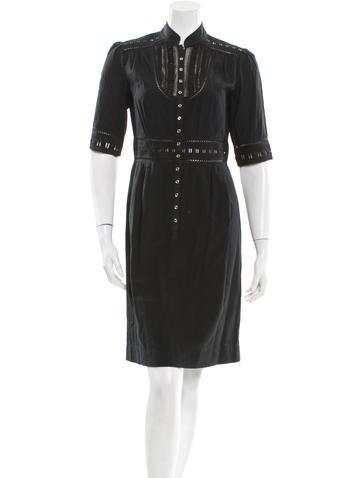 Catherine Malandrino Eyelet-Trimmed Dress None