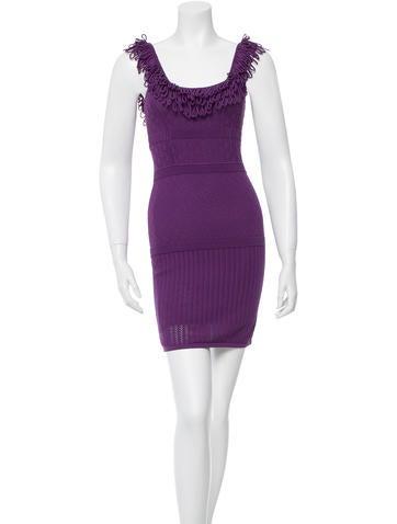 Catherine Malandrino Mini Open Knit Dress None