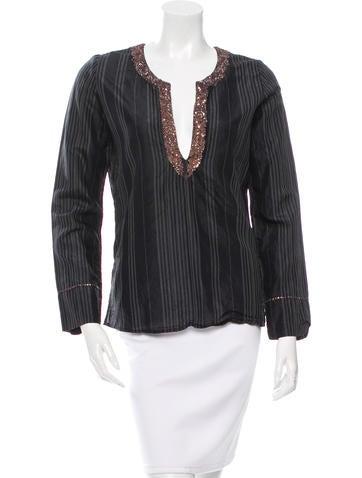 Day Birger et Mikkelsen Silk Embellished Top None