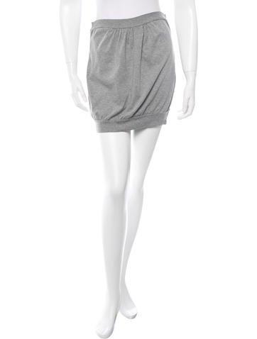 D&G Rib Knit-Trimmed Mini Skirt None