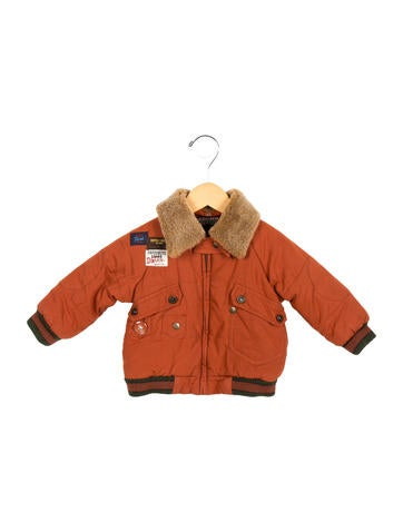 D&G Boys' Shearling-Trimmed Coat None