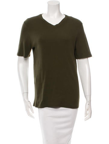 D&G Ribbed Short Sleeve Top None