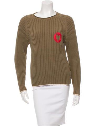 D&G Long Sleeve Rib Knit Sweater None