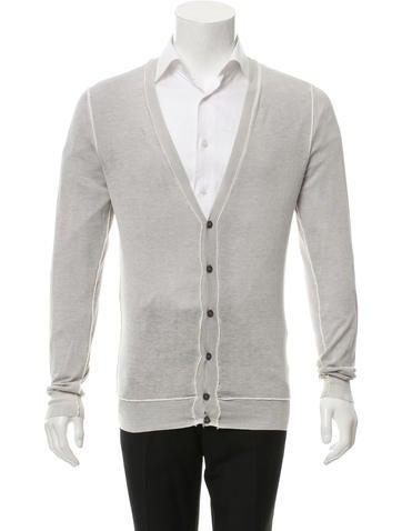 D&G Long Sleeve Rib Knit-Trimmed Cardigan None