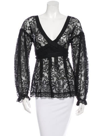 D&G Lace Long Sleeve Top None